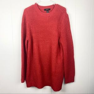 Forever 21   Red/Orange Chunky Cable Knit Sweater